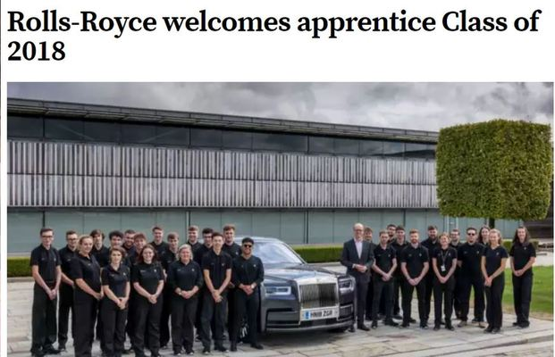 Rolls-Royce welcomes apprentice Class of 2018