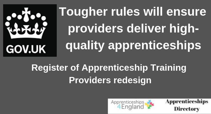 Tougher rules will ensure providers deliver high-quality apprenticeships