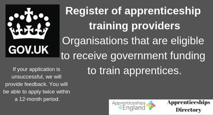 Register of apprenticeship training providers, Organisations that are eligible to receive government funding to train apprentices