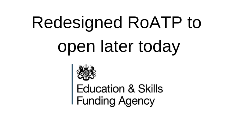 Information: register of apprenticeship training providers, ESFA Update 12th Dec