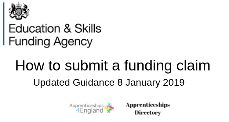 How to submit a funding claim (Apprenticeships Directory)