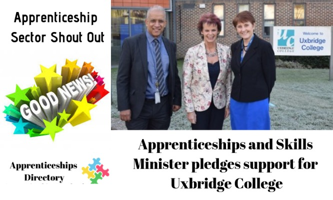Apprenticeships and Skills Minister pledges support for Uxbridge College