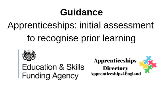 Guidance  Apprenticeships: initial assessment to recognise prior learning
