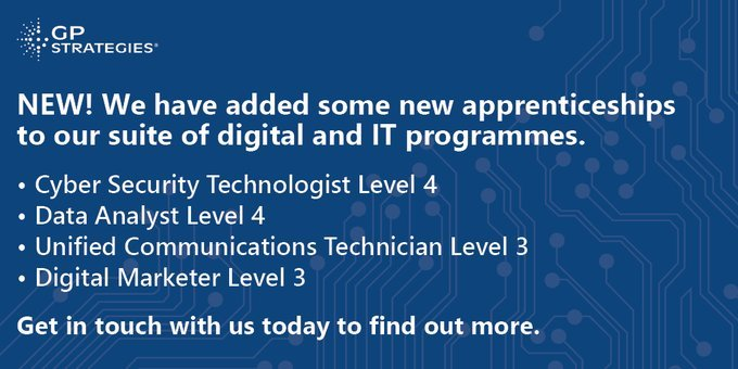 New: We have added some new apprenticeships to our suite of digital and IT Programmes