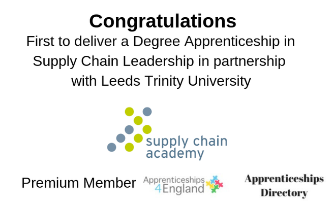 First to deliver a Degree Apprenticeship in Supply Chain Leadership in partnership with Leeds Trinity University.