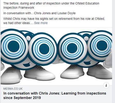 The before, during and after of inspection under the Ofsted Education Inspection Framework  In conversation with…Chris Jones and Louise Doyle